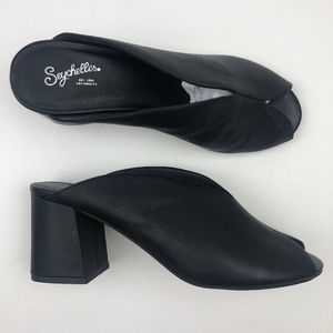 Seychelles By the Beach Black leather Mule